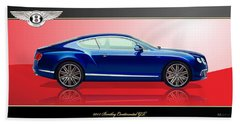 Bentley Continental Gt With 3d Badge Hand Towel
