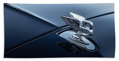 Bath Towel featuring the digital art Bentley Flying B by Douglas Pittman