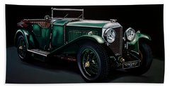 Bentley Open Tourer 1929 Painting Hand Towel