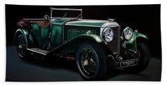 Bentley Open Tourer 1929 Painting Bath Towel