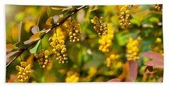 Berberis Yellow Flowering Shrub Grow Bath Towel