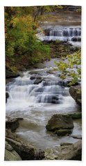 Bath Towel featuring the photograph Berea Falls by Dale Kincaid