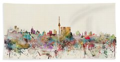 Berlin Germany Skyline Bath Towel
