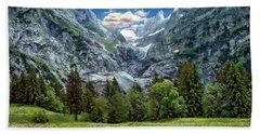 Bernese Alps Landscape Bath Towel