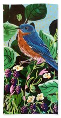 Berry Bluebird Bath Towel