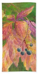 Berry Challenge Hand Towel by Denise Hoag