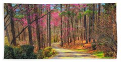 Bath Towel featuring the photograph Berry's Back Road by Geraldine DeBoer