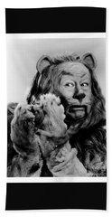Cowardly Lion In The Wizard Of Oz Bath Towel