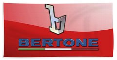 Bertone 3 D Badge On Red Hand Towel
