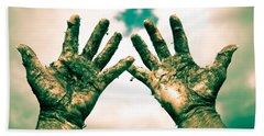Beseeching Hands Hand Towel