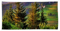 Hand Towel featuring the photograph Beskidy Mountains by Mariola Bitner