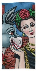 Beso Or Fridas Kisses Hand Towel