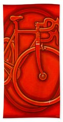 Bespoked In Orange  Bath Towel by Mark Jones