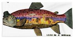 Bath Towel featuring the digital art Fishing - Best Caught Wild On Light by Elaine Ossipov