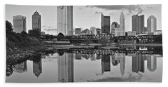 Hand Towel featuring the photograph Best Columbus Black And White by Frozen in Time Fine Art Photography