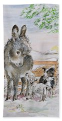 Best Friends Hand Towel by Diane Matthes