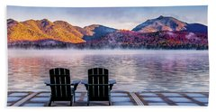 Best Seats In The Adirondacks Hand Towel by Neil Shapiro
