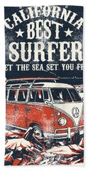 Best Surfer Hand Towel
