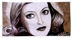 Bette Davis 1941 Hand Towel by Tara Hutton
