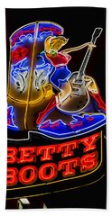 Betty Boots Bath Towel by Stephen Stookey