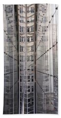 Hand Towel featuring the photograph Between Glass Walls by Rona Black