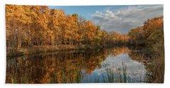 Beyer's Pond In Autumn Hand Towel