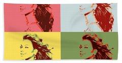 Beyonce Pop Art Panels Bath Towel