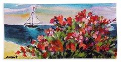Beyond Sea Roses Hand Towel