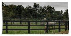 1004 - Beyond The Fence White Horse Bath Towel