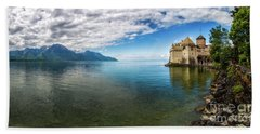 Beyond The Lake Bath Towel by Giuseppe Torre