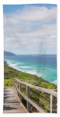 Hand Towel featuring the photograph Bibbulmun Track Albany Wind Farm by Ivy Ho