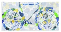 Bicycle And Dots Hand Towel