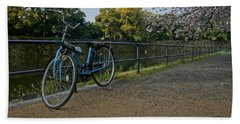 Bicycle And Tokyo Imperial Palace Hand Towel