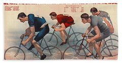 Hand Towel featuring the photograph Bicycle Lithos Ad 1896 by Padre Art