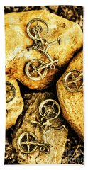 Bicycle Obstacle Course Bath Towel