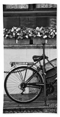 Bicycle With Flowers Hand Towel by Silvia Ganora