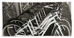 Bicycles In Belmont Shore Bath Towel