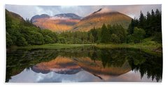 Bidean Nam Bian At Sunset Hand Towel