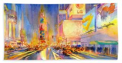 Big Apple Evening, No. 2 Hand Towel by Virgil Carter