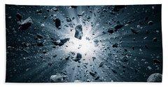 Big Bang Explosion In Space Bath Towel