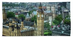 Big Ben From The London Eye Hand Towel