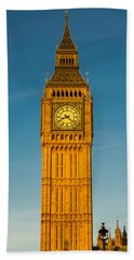 Big Ben Tower Golden Hour London Bath Towel