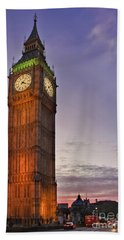 Hand Towel featuring the photograph Big Ben Twilight In London by Terri Waters