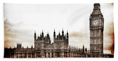 Big Bend And The Palace Of Westminster Bath Towel