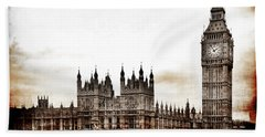 Big Bend And The Palace Of Westminster Hand Towel
