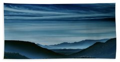 Big Bend At Dusk Hand Towel