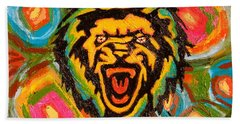 Big Cat Abstract Hand Towel by Gerhardt Isringhaus