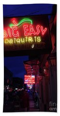 Hand Towel featuring the photograph Big Easy Sign by Steven Spak