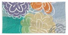 Big Flowers Hand Towel by Linda Woods
