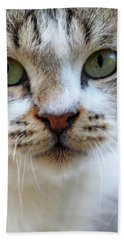 Hand Towel featuring the photograph Big Green Eyes by Munir Alawi